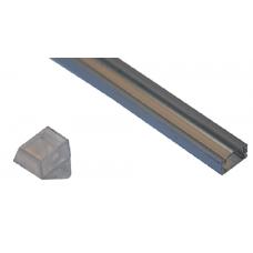 10008 - / JH-003F-3M/  П-образен профил, прав капак, прозрачен - 3 м /NEW/