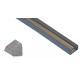 10007 - / JH-003F-2M/  П-образен профил, прав капак, прозрачен - 2 м /NEW/