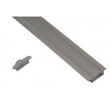 10011 - / JH-003A-3M/  Алуминиев профил за вграждане, мат - 3 м /NEW/