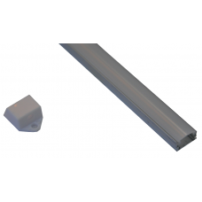 10012 - / JH-003F-2M/  П-образен профил, прав капак, мат - 2 м /NEW/