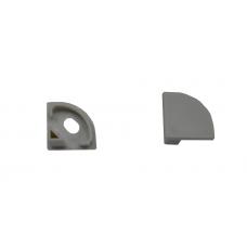 10101 - Комплект тапи за ъглов профил- объл мат- 2 бр