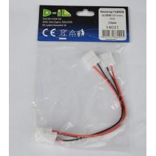 14031 Конектор ГЪВКАВ за 5050 LED лента, IP20-  2 бр